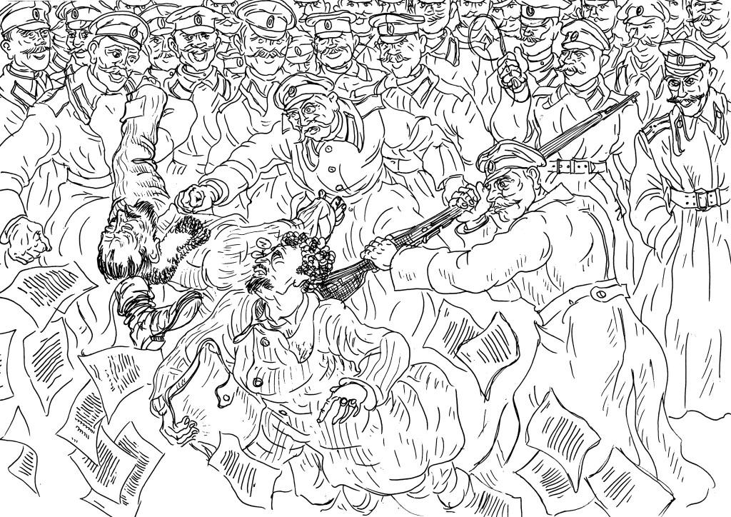 Большевики пытались склонить казаков сложить оружие