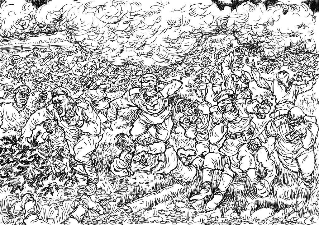 Газовая атака позиций Русской Императорской армии