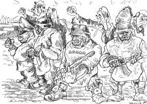 Довольно слабая опора — рабы и холопы