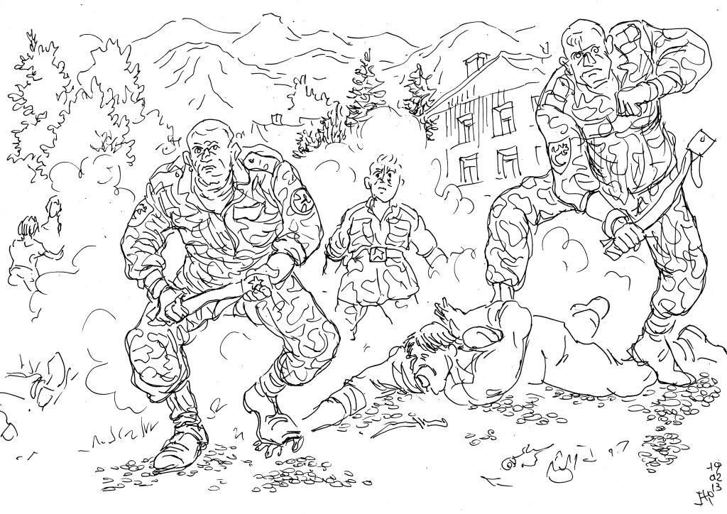 Ящерица на рукаве — знак воина внутренних войск — Уральца
