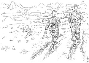 Ящерица на рукаве — это воин Уральского округа внутренних войск России