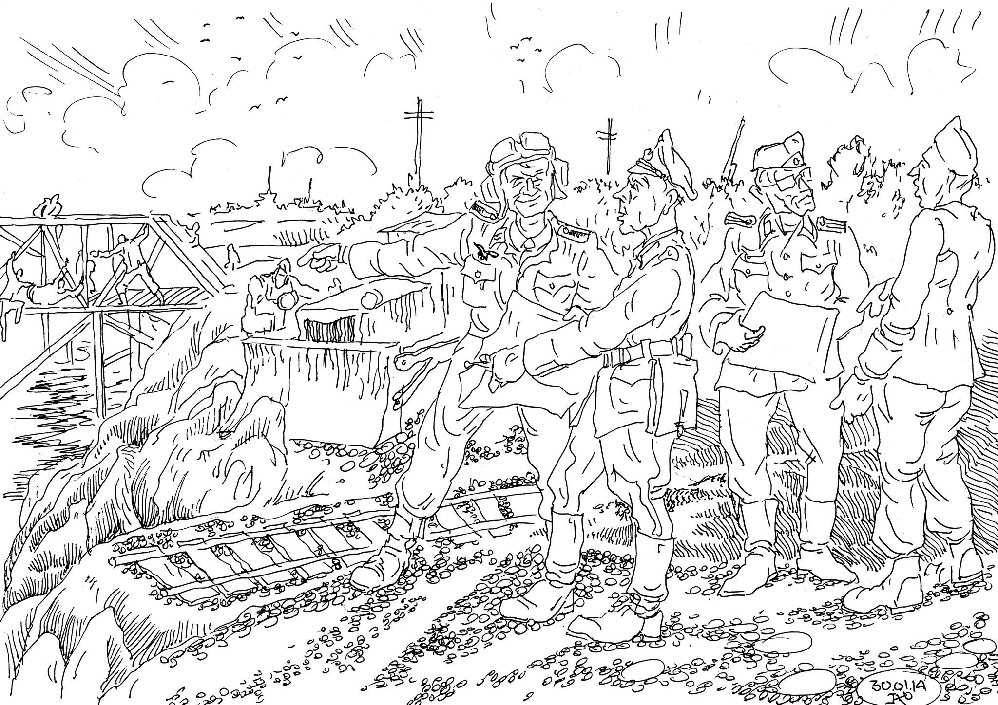 Инженерные войска Вермахта проводят  работы по маскировке стратегических объектов