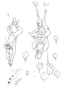 Мне мама письмо прислала, будто ей приснился сон, что у меня парашют не раскрылся