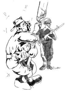 Согласно уставу, солдат имеет право целовать всего две вещи