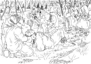 Повстанцы УПА издеваются над военнослужащим РККА, захваченным ими в плен