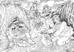 Бойцы пехоты ушли в атаку налегке, а «органы» за работой, на «охоте» за орденами