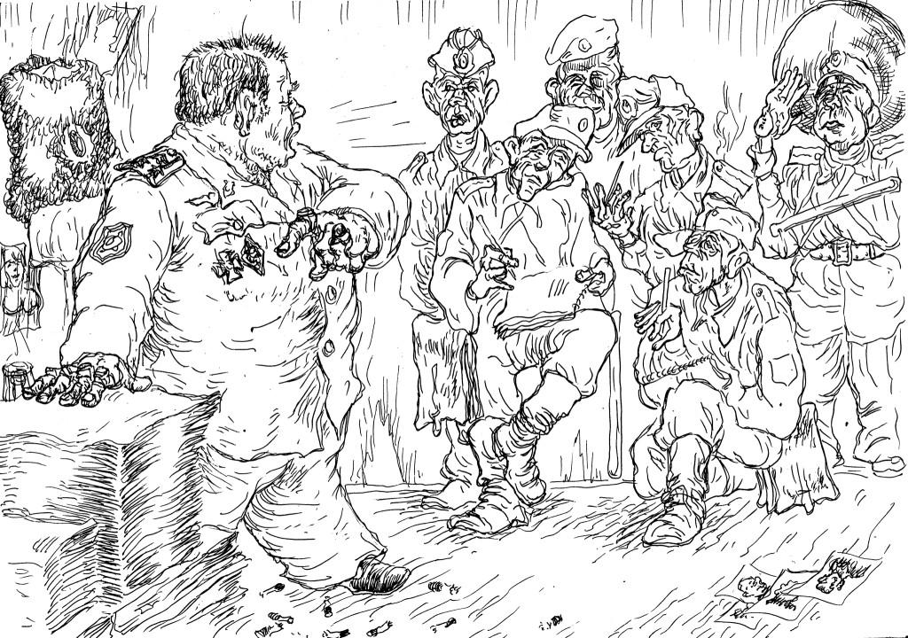 Инструктаж подчинённых ментов перед спуском их на службу