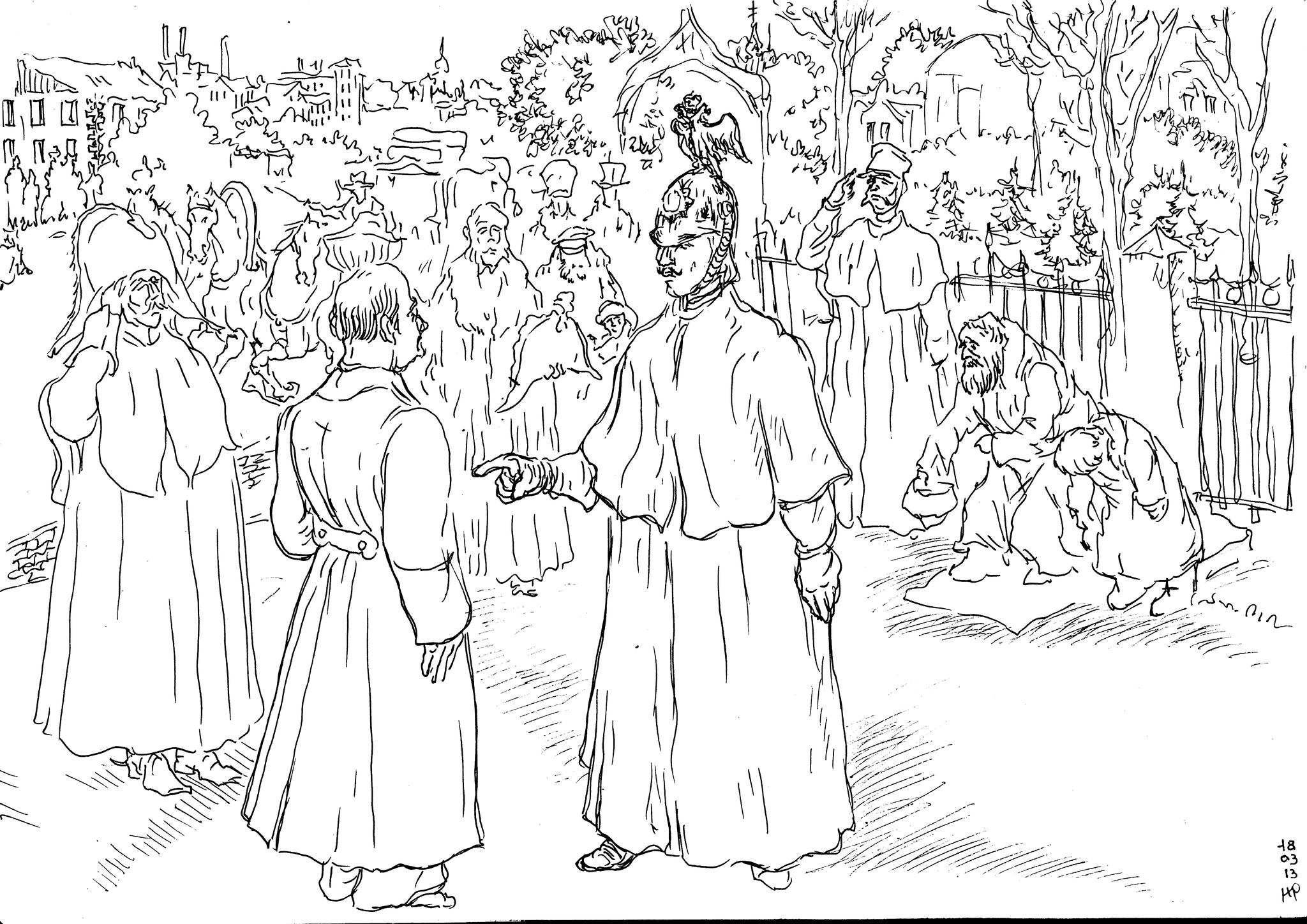 Государь Император Николай Павлович в заботах о служащих издал закон о пенсиях за беспорочную службу