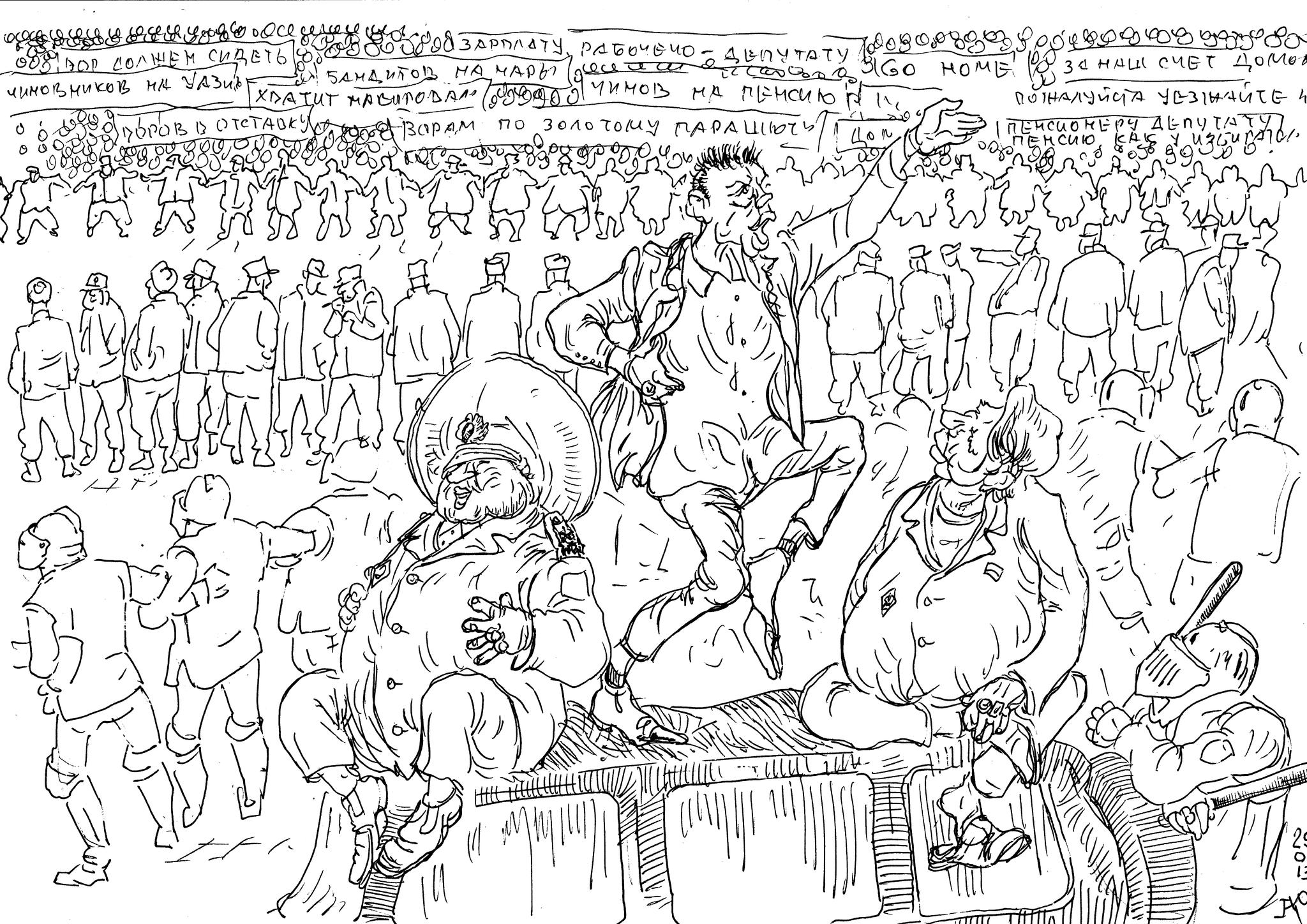 Ленин выступал с броневика иностранного производства, нынешние вожди усвоили, что нужно выступать с иностранного внедорожника