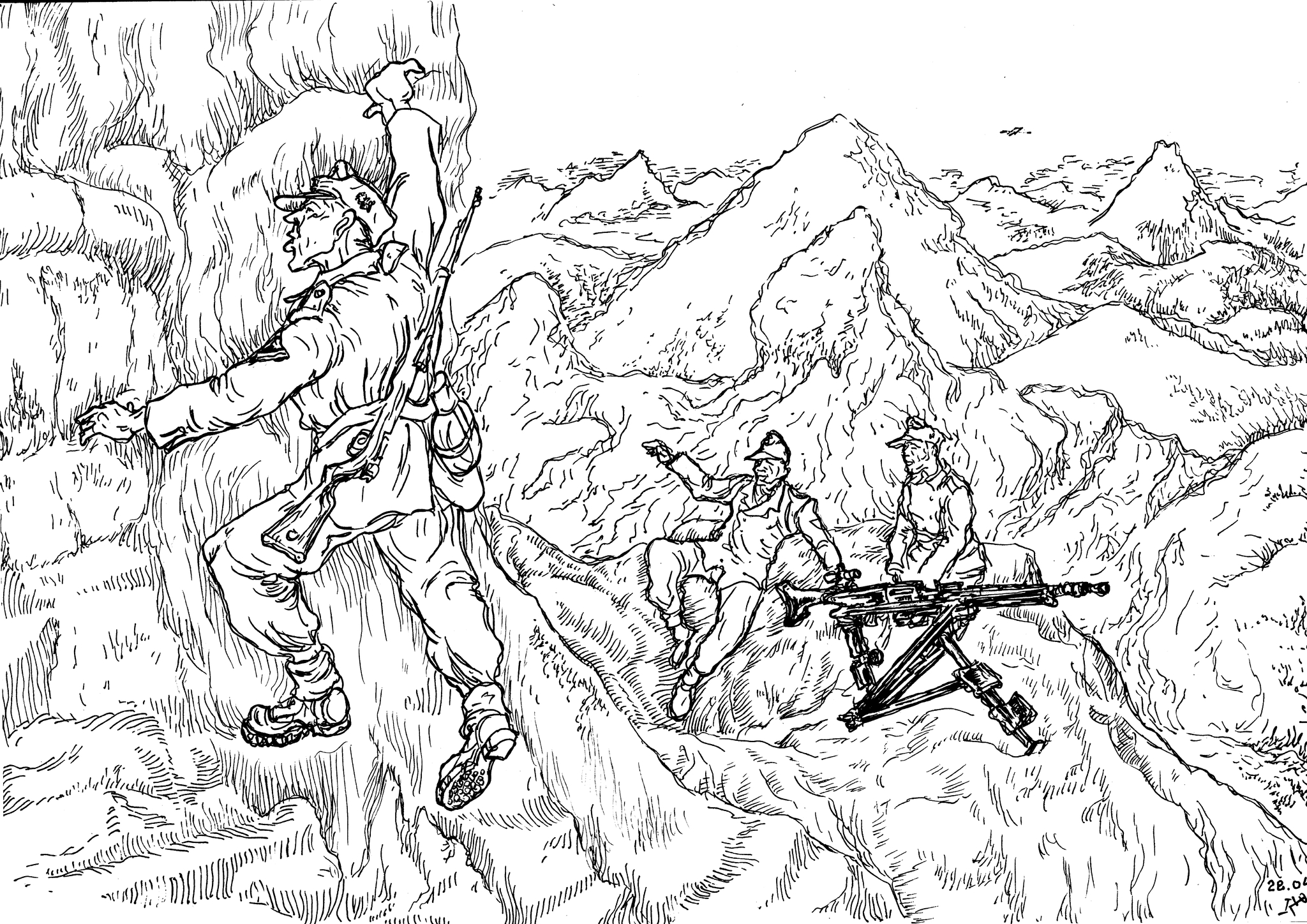 Горнострелковые части способны вести боевые действия в высокогорной местности