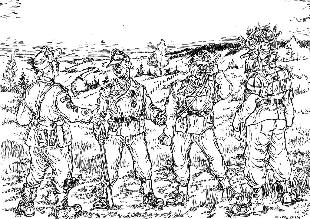 Егеря германской армии знали толк в маскировке