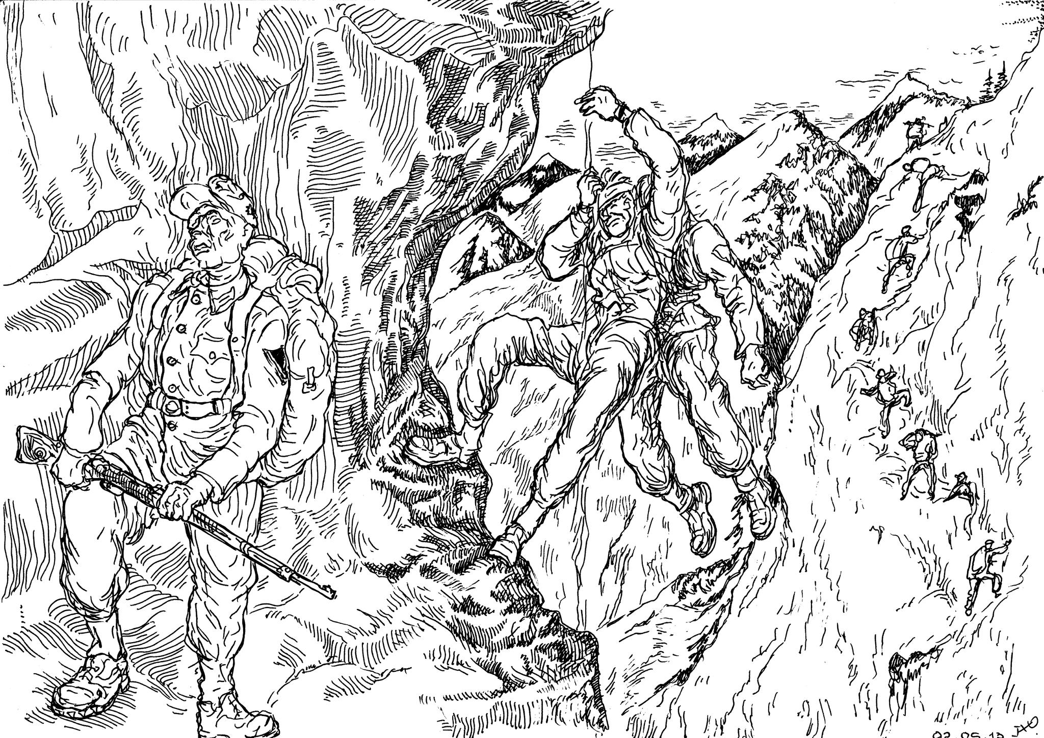 В горнострелковых войсках раненого нужно было «упаковать» и спустить с высоты