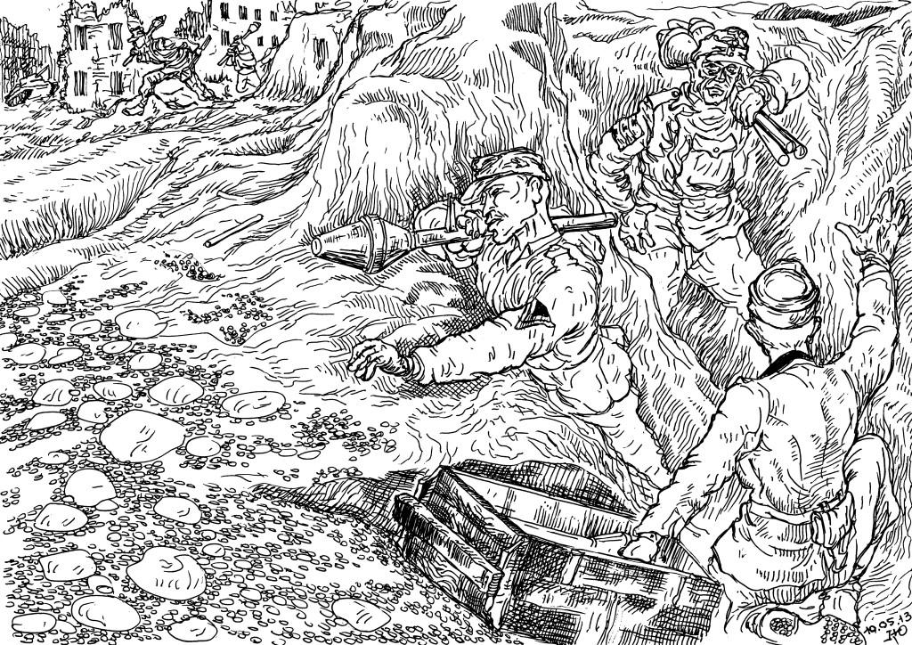 В августе 1943 года у Вермахта на вооружении появились фаустпатроны