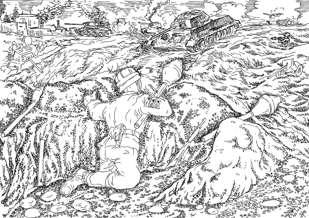 Фаустпатроны немцы использовали для уничтожения бронированных и легкобронированных целей