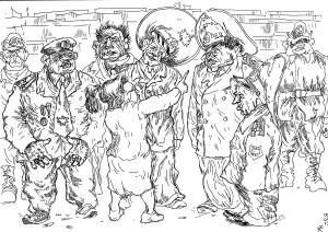 Старая учительница — участница протестного движения — поясняет кандидатам и докторам наук, что такое средняя зарплата