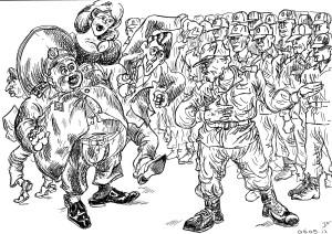 Офицер требует внести ясность: кто же патриоты и от кого его солдаты их охраняют?