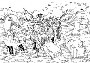 Полевое «заседание» штабов МЧС, МВД и МО. Каждый из присутствующих ставит себя на место улетевших…