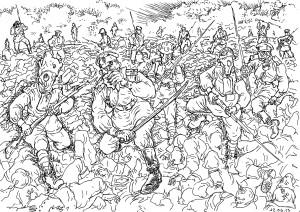 Трупы вместе с «волчьими ямами», спиралями Бруно и рядами колючей проволоки очень мешали атакующим