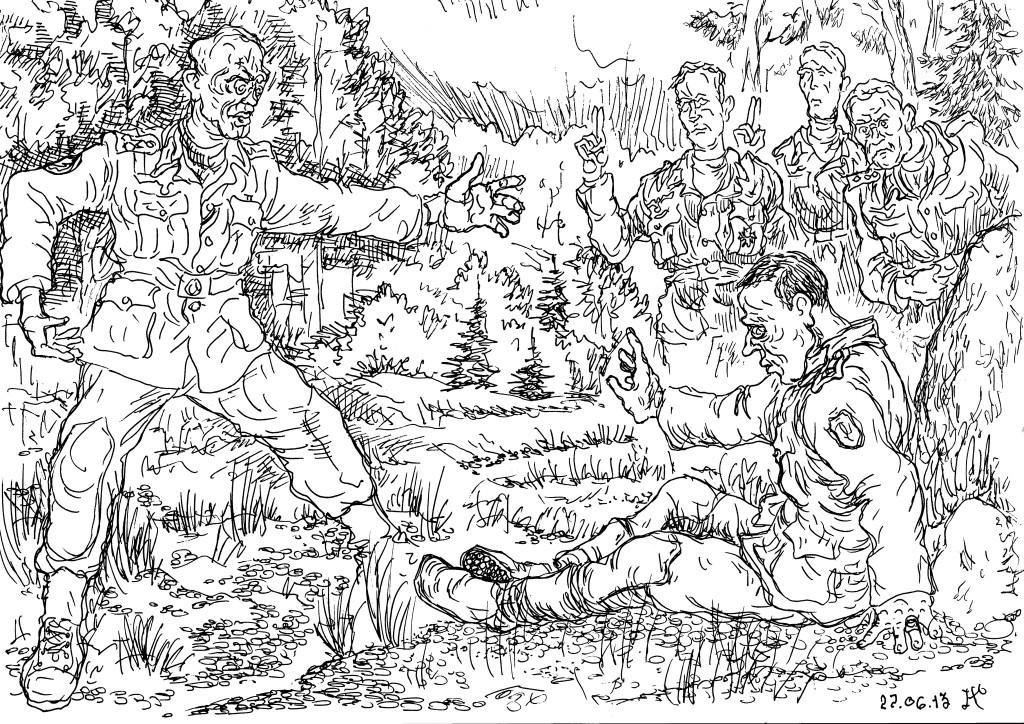 Прирождёнными воинами-егерями были финны