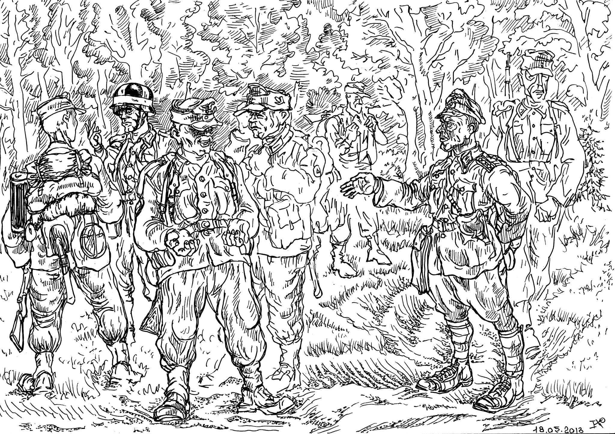 Егеря — лёгкая пехота, обученная ведению боевых действий в лесистой местности, выживанию в труднодоступной местности