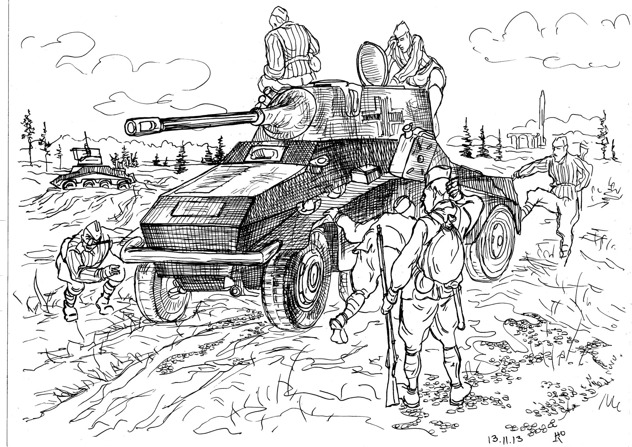 Оружие  Вермахта. Тяжёлый бронетранспортёр Sdkfz234