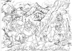 Австро-венгерские горные стрелки контролировали горную местность по границам Империи