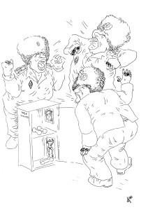 Почему гантели в тумбочке! Мышей развести хотите?