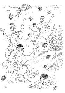 Противотанковые ежи-камикадзе