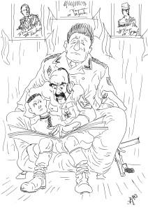 Это Гитлер, внучок – страшный человек, кучу народа перебил…