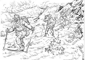 Патрулирование труднодоступной местности Горными стрелками Вермахта