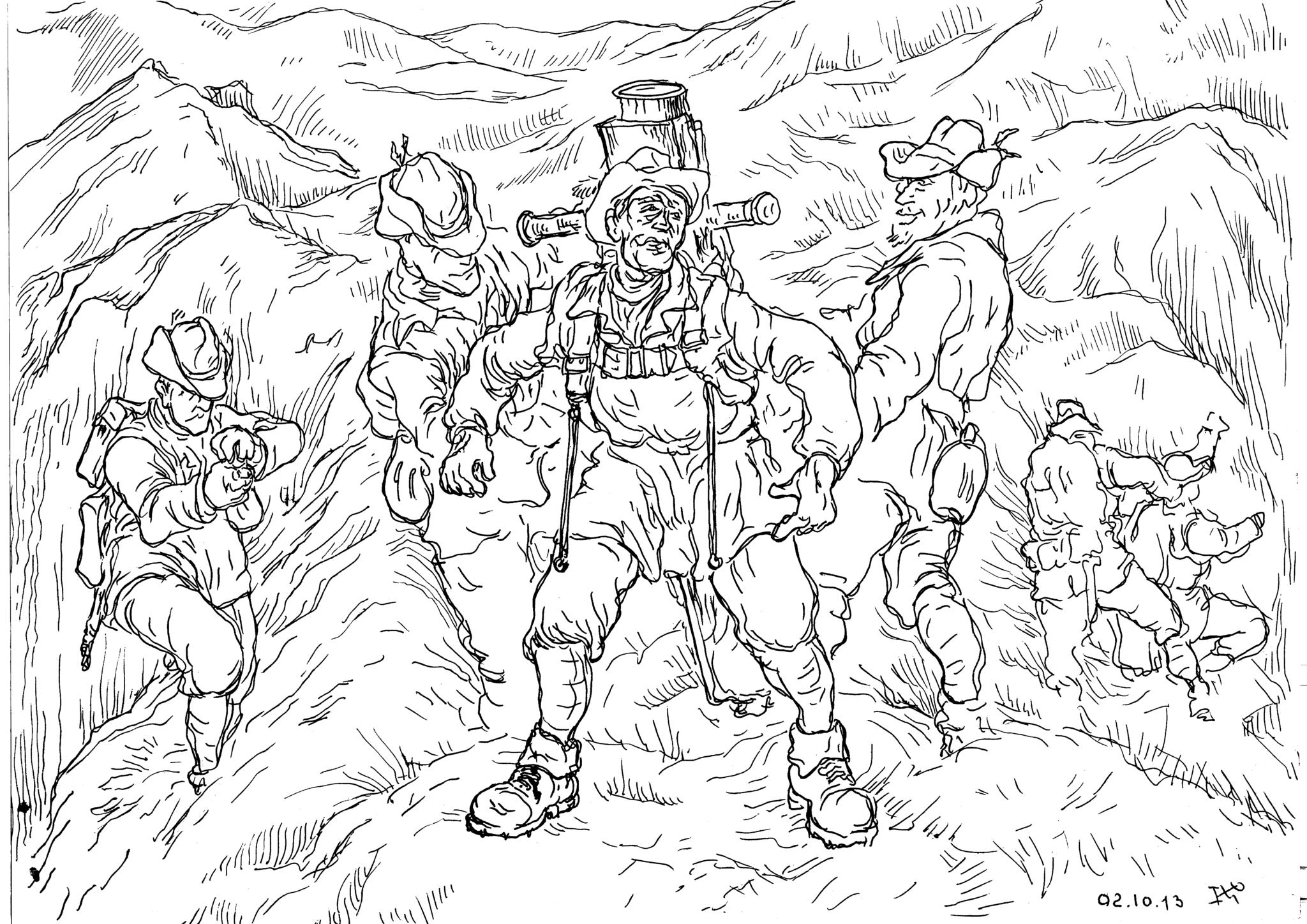 Горные стрелки Италии — легкая пехота