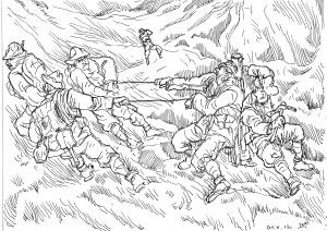 Итальянские горные стрелки. Расчёт горной пушки