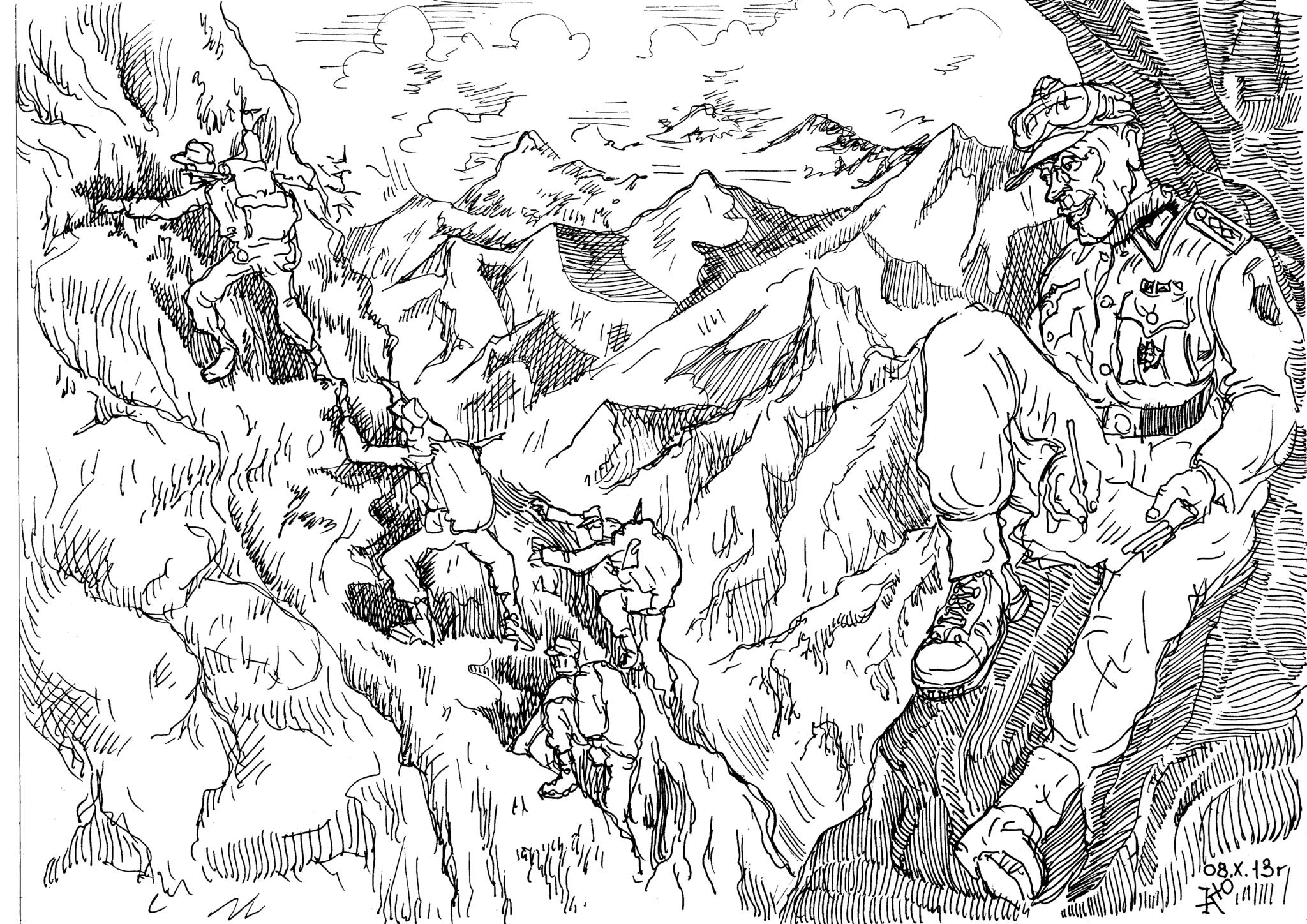 Большинство горных стрелков Вермахта были инструкторами и мастерами скалолазами