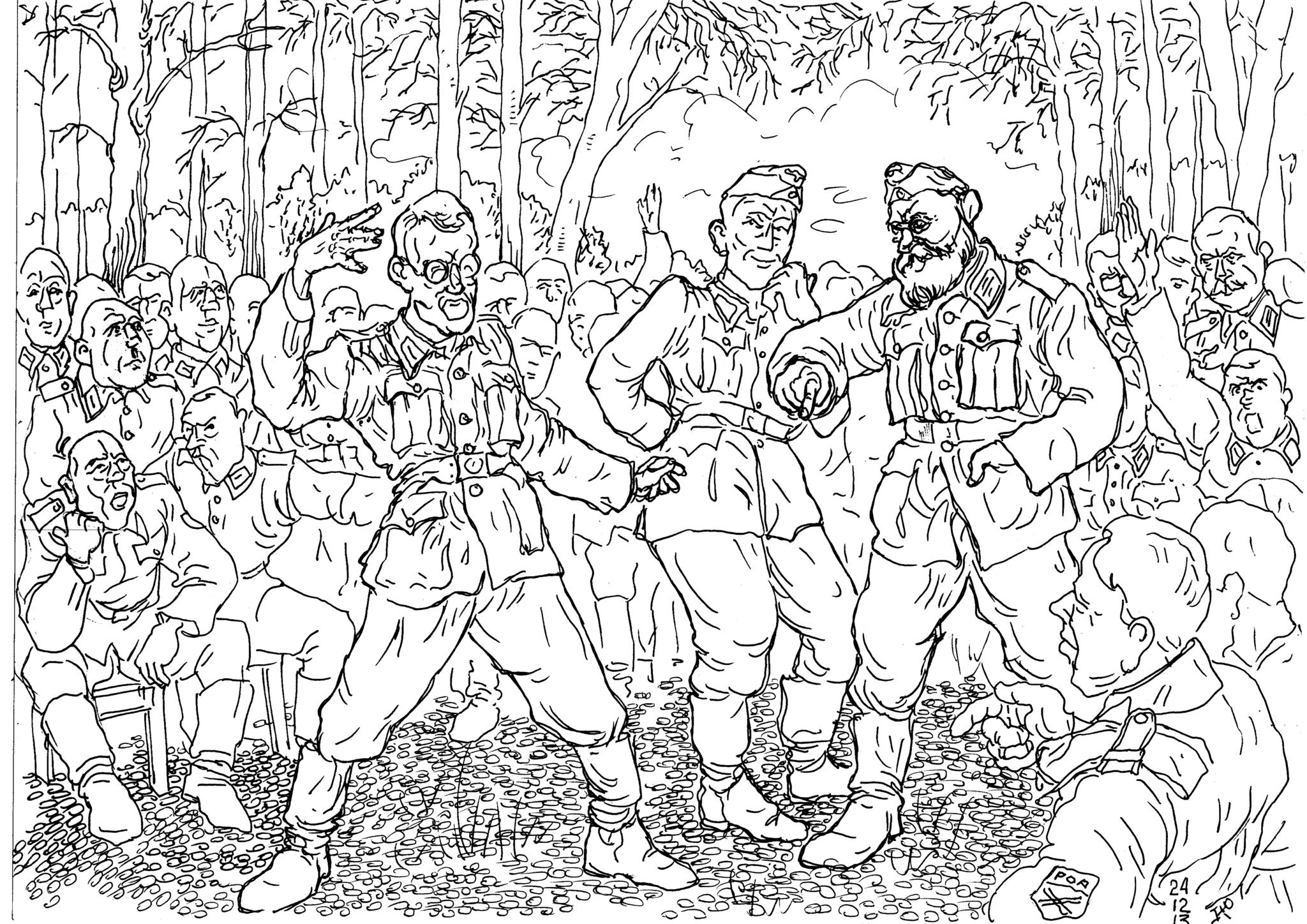 Политические занятия в подразделениях русской освободительной армии