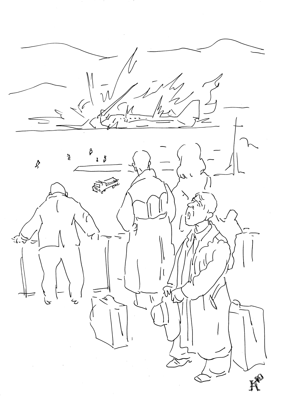 Хотел совершить посадку самолет выполнявший рейс №13