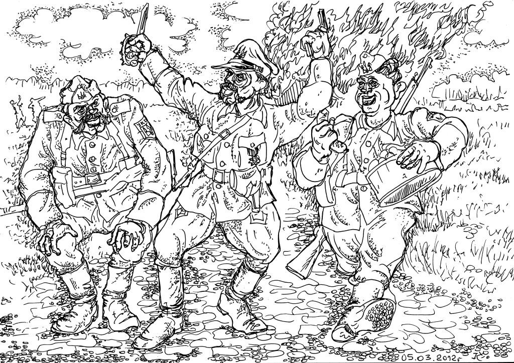 Уничтожение Хатыни 118-м карательным батальоном организации украинских националистов (прав. нацистов) Украинской повстанческой армии (ОУН УПА)