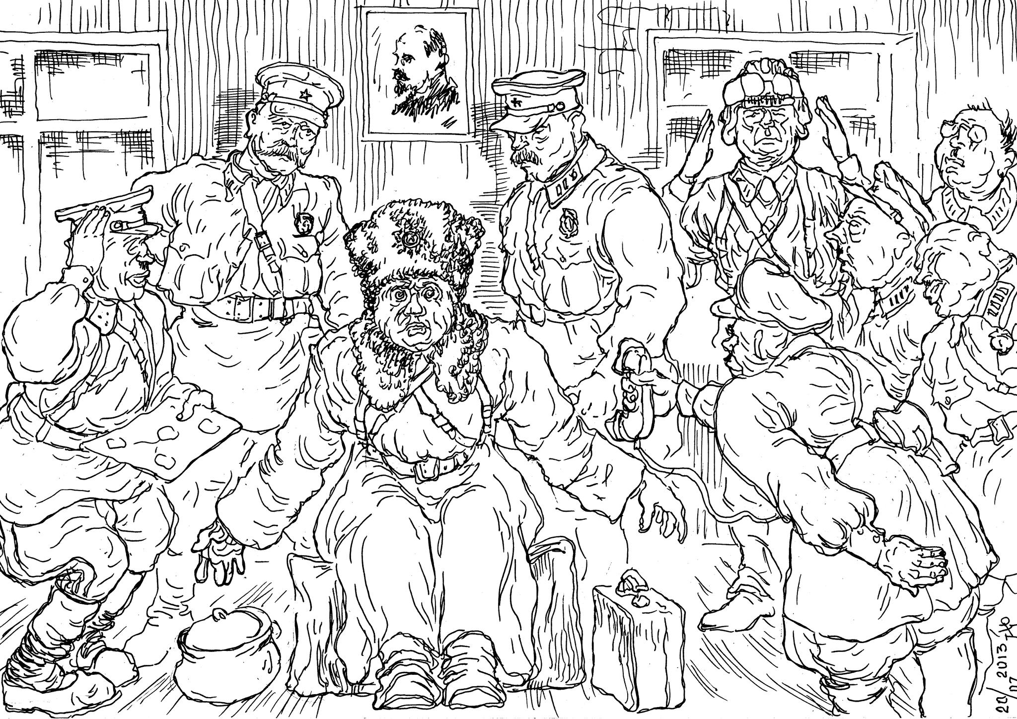 Прикреплённые командиры НКВД сами не побегут и других удержат