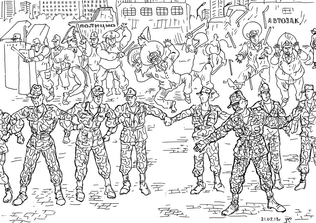 При разгоне демонстрации военнослужащие ВВ — не слуги режима, они живой щит