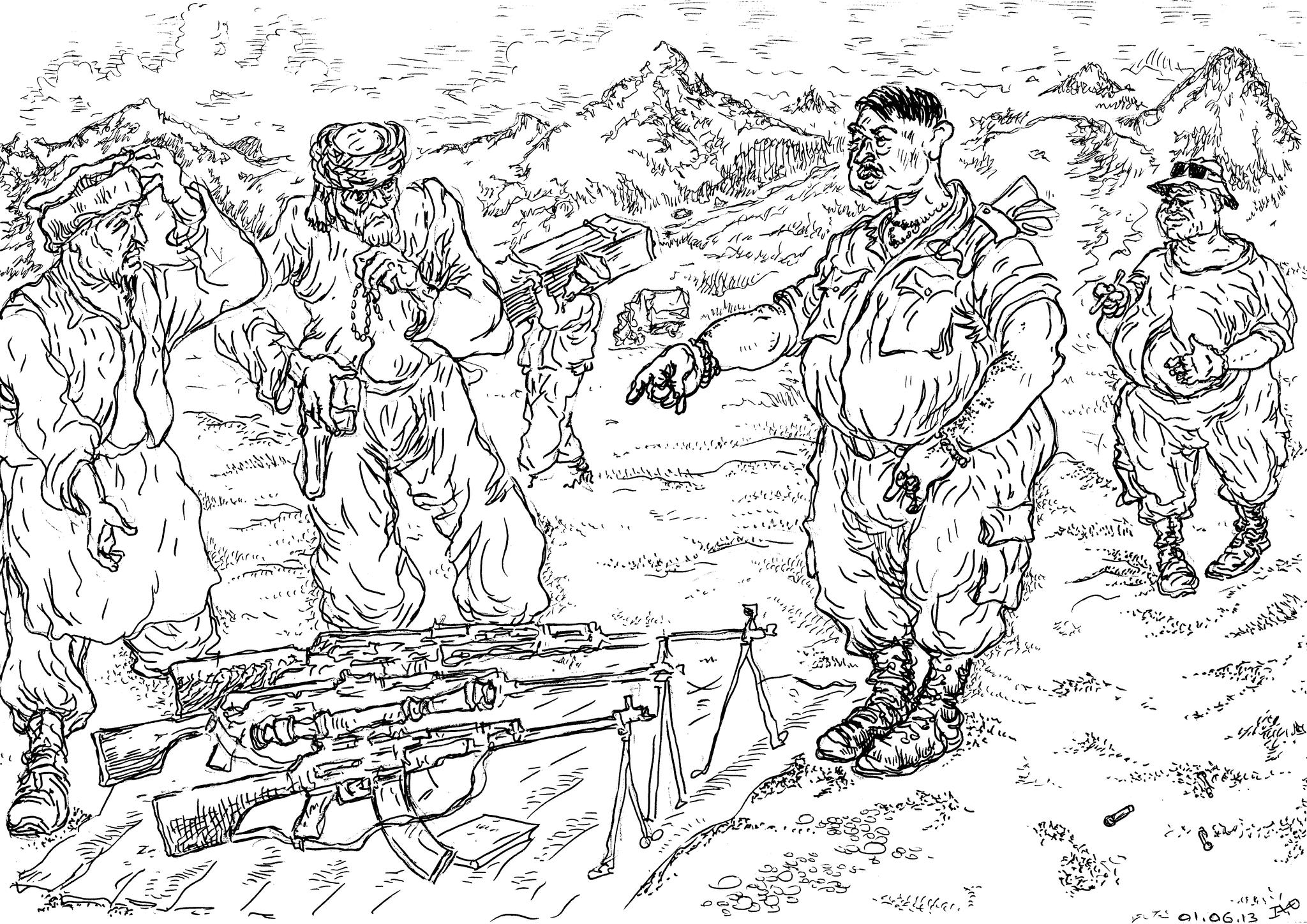 Торгаш российским оружием («оружейный барон» и «торговец смертью») вроде В.А.Буутта (или какая другая мразь)