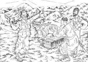 Советский военсоветник рекламирует оружие советского производства