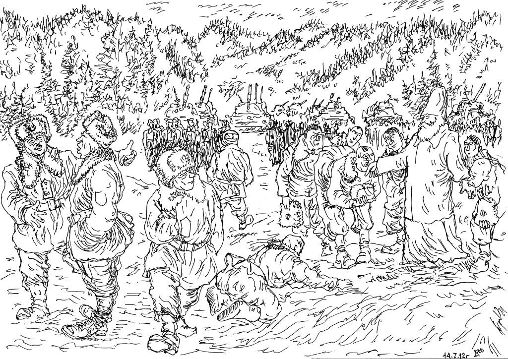 Посещение священником воинской части