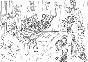 «Рабочее место» «дедушки строительных войск» на объекте строительства