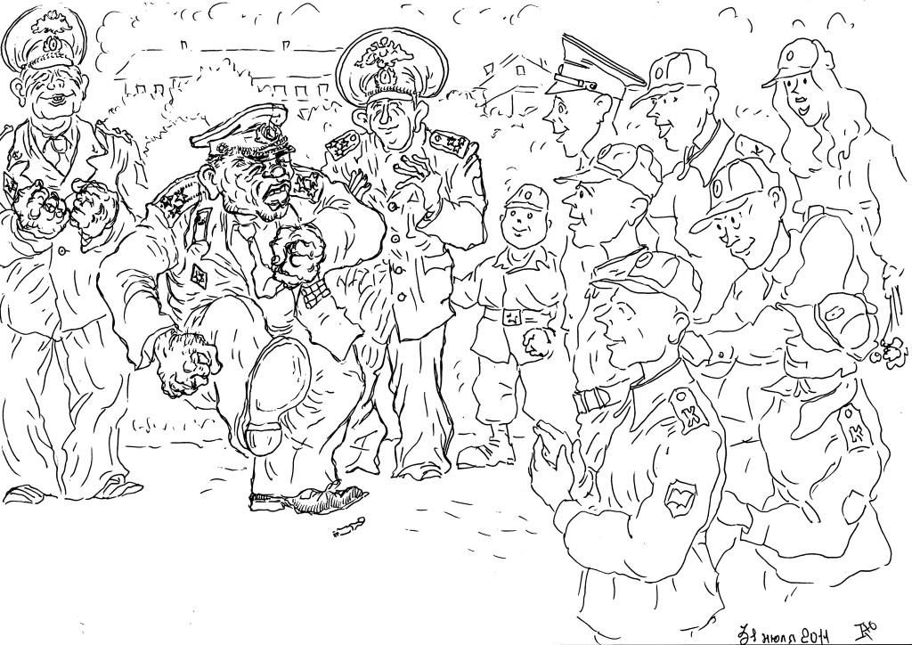 Воспоминаниями с кадетами делится ветеран Федслужбы