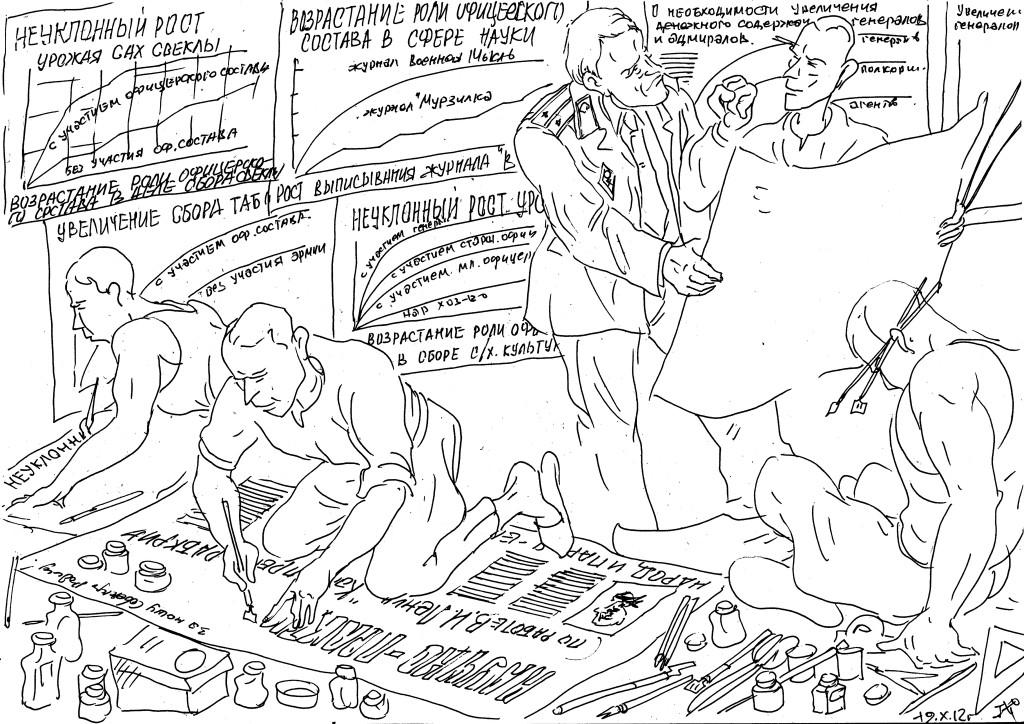 Изготовление плакатов для занятий по марксистско-ленинской подготовке и к политзанятиям