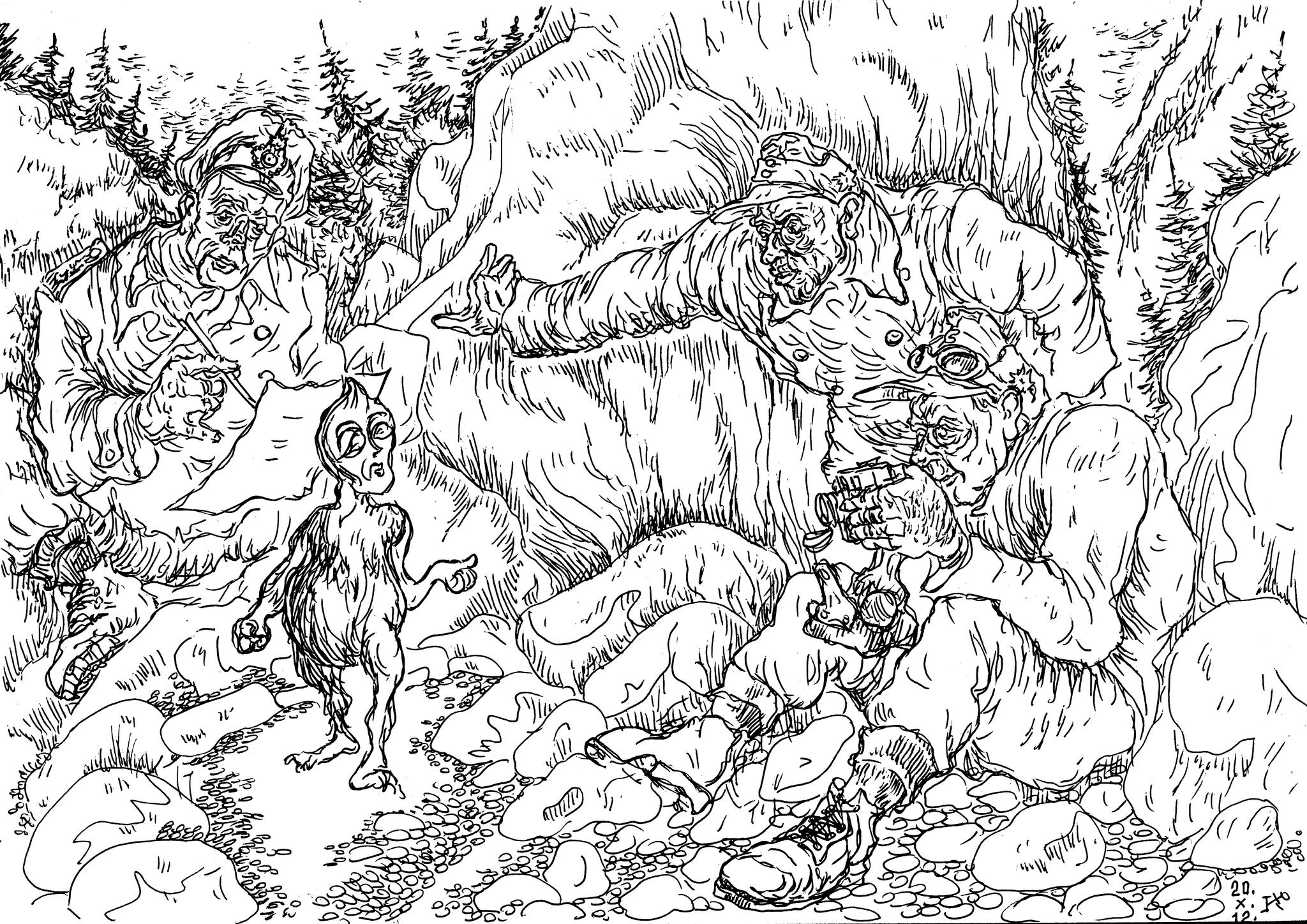 Встреча экипажа НЛО и горных стрелков Вермахта