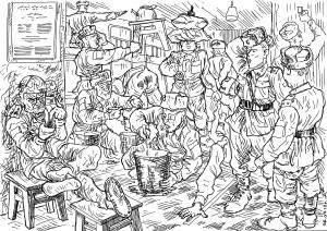 Солдат-контрактник занимается с личным составом