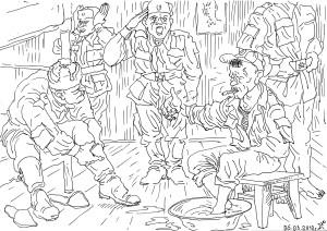 Утро контрактников. Дневальный докладывает о прибытии командира части