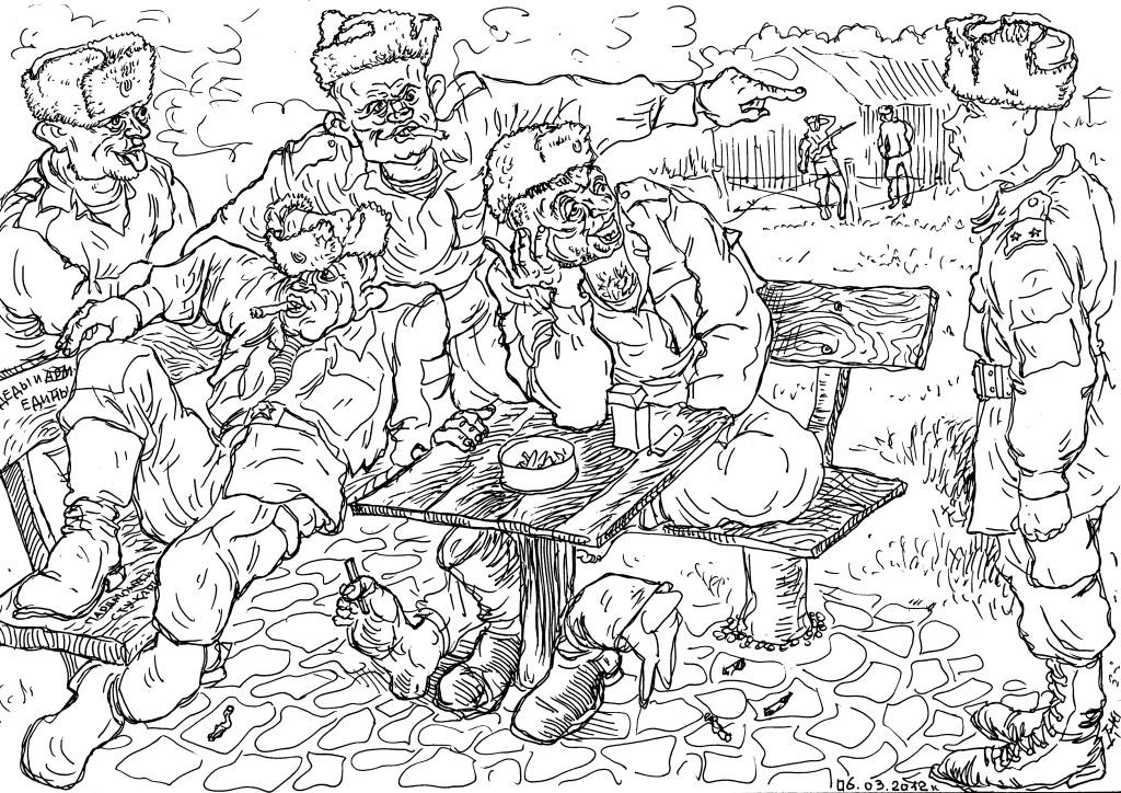 Солдаты-контрактники «позволяют» молодому лейтенанту побеспокоить себя