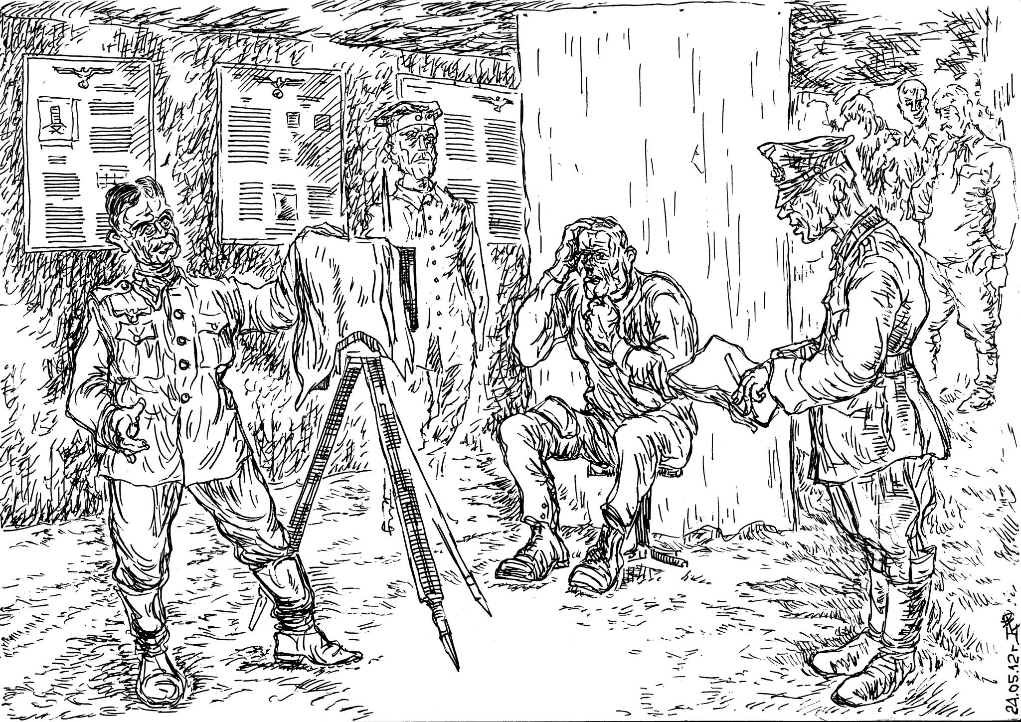 Большинство пленных красноармейцев в первый раз в жизни фотографировались уже находясь в плену у германцев