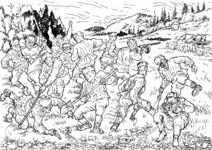 Попытка захвата моста через реку Вычегду немецкими диверсантами
